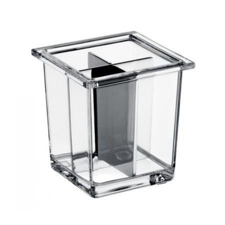Emco Liaison Szklane naczynie z przegrodami 9,7x9,7x9,9 cm, przezroczyste 171900130