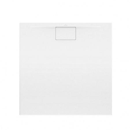 Villeroy & Boch Architectura MetalRim Brodzik kwadratowy 90x90x1,5 cm z akrylu, biały Weiss Alpin UDA9090ARA115V-01