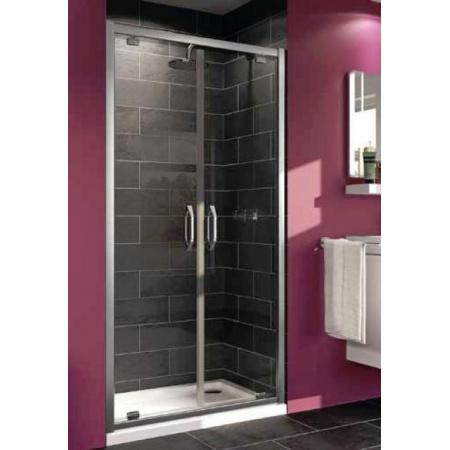 Huppe Ena Drzwi prysznicowe do wnęki - 90/190 Srebry błyszczący Szkło przezroczyste 121202.069.321