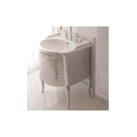 Globo Paestum Szafka stojąca z umywalką 66x58 cm, srebrna PA0067X