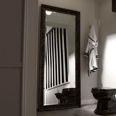Kerasan Retro Lustro łazienkowe 70x180 cm, czarna rama 736601