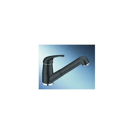 Blanco Vitis-S Silgranit-Look Bateria kuchenna z wyciąganą wylewką czarna antracyt 515376