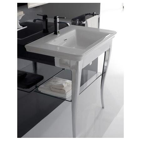 Globo Relais Półka szklana 58x41x1 cm do nóg od umywalki, RI070VE