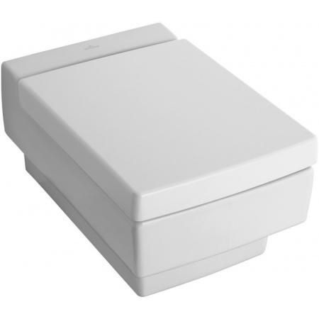 Villeroy & Boch Memento zestaw miska ustępowa lejowa 37,5x56 cm model wiszący Weiss Alpin Ceramicplus + deska wolnoopadająca 562810R1 + 9M17S1R1