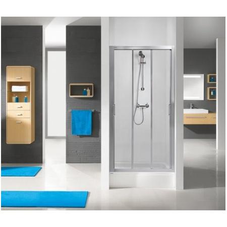 Sanplast Aspira DTr/ASPII Drzwi prysznicowe - 75/190 srebrny błyszczący Strukturalne 600-032-1110-38-471