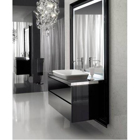 Globo Relais Globo Relais Szafka wisząca pod umywalkę z lustrem 121x53x190 cm, biała/chrom MS0601X