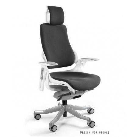 Unique Wau Fotel biurowy, tkanina BL, czarny W-609W-BL418