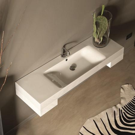 Kerasan Cento Umywalka 140 cm x 45 cm biała 3535