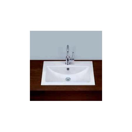 Alape umywalka emaliowana EB.R585 biała z powłoką Easy-Care wymiary 135 x 585 x 347 nr kat. 2201000400