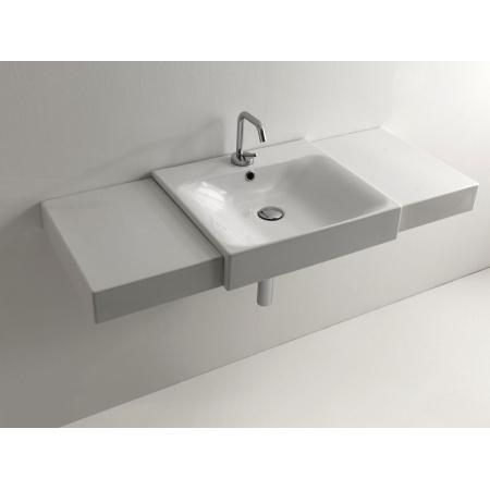 Kerasan Cento Umywalka wpuszczana w blat 50x45 cm, z przelewem, biała 3546