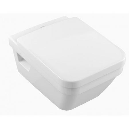 Villeroy & Boch Architectura Combi-Pack Zestaw Toaleta WC podwieszana z deską sedesową wolnoopadającą, biały Weiss Alpin 5685H101