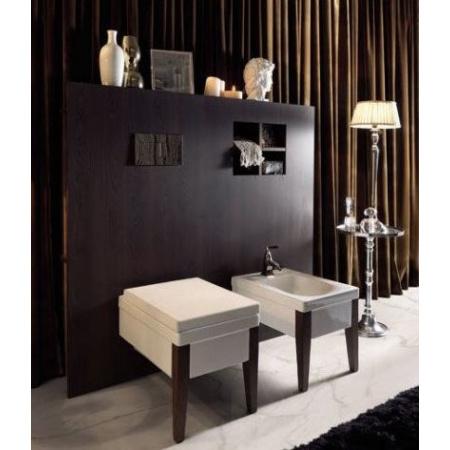 Kerasan Bentley Drewniana ścianka do WC i bidetu wiszącego 152x140x17 cm, ciemne drewno 918547