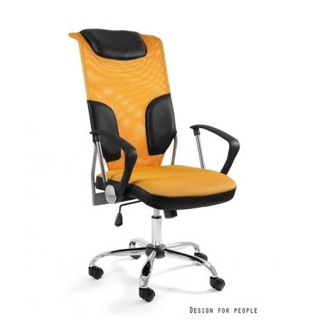 Unique Thunder Fotel biurowy, żółty W-58-10