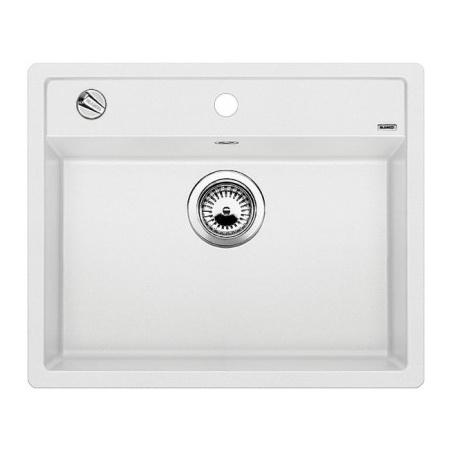 Blanco Dalago 6-F Zlewozmywak granitowy Silgranit PuraDur jednokomorowy 60,5x50 cm z korkiem automatycznym, biały 514771