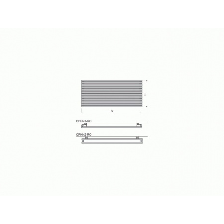 Vasco CARRE PLAN POZIOME - CPHN1 pojedynczy 2400 x 595 biały
