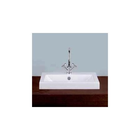 Alape umywalka emaliowana AB.R585H.1 biała z powłoką Easy-Care wymiary 135 x 585 x 405 nr kat. 3202100400