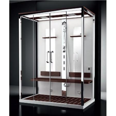 Novellini Nexis Dual Kabina wielofunkcyjna z sauną parową 170x90x235 cm, teak NEX2A170T5-1KT