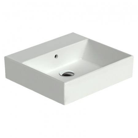 Catalano Premium Umywalka 50x47 cm bez otworu, z przelewem i z powłoką CataGlaze, biała 150VP00 / 50VP