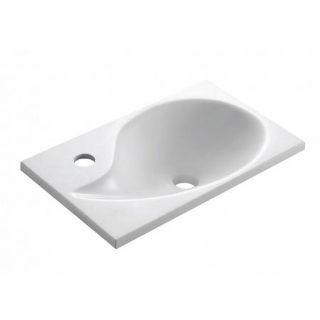 Bathco Aqua Umywalka wpuszczana w blat 42x25 cm dolomitowa, biała 0572
