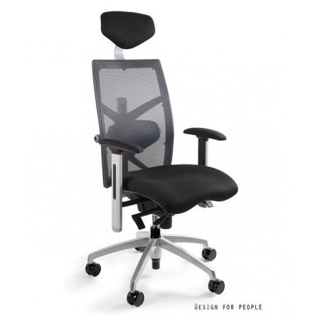 Unique Exact Fotel biurowy, szary W-099Y-BL418-8