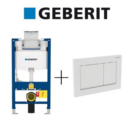 Geberit Zestaw Duofix Stelaż podtynkowy do WC H82 + Omega 30 Przycisk uruchamiający, 111.003.00.1 + 115.080.KJ.1
