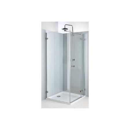 Koło Next Drzwi prysznicowe 90x195 cm z powłoką Reflex prawe, profile srebrne szkło przezroczyste HDSF90222003R