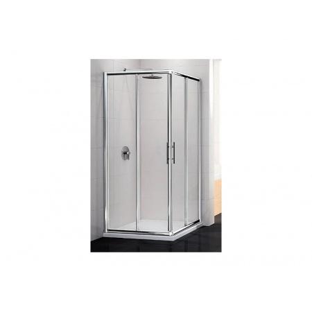 Novellini Lunes Kabina prysznicowa narożna 75 cm, profil biały LUNESA75L-1D