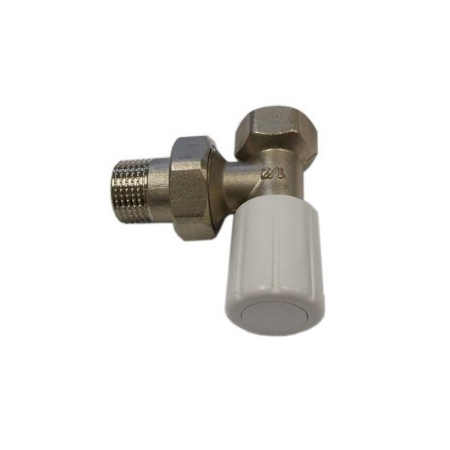 Schlosser DN15 zawór grzejnikowy z pokrętłem 1/2x1/2 kątowy 6014 00016