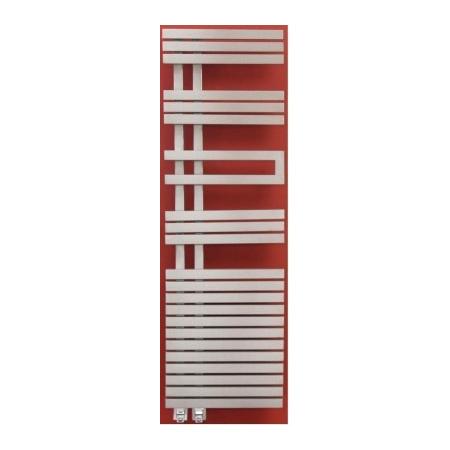 Zeta TODOR Grzejnik dekoracyjny 1390x500 rozstaw 80 kolor INOX - TO05001390