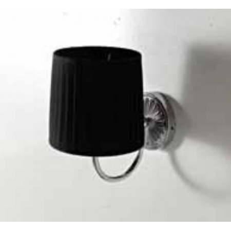 Art Ceram Versailes lampa ścienna z czarnym kloszem chrom HEA039 / HEA039;71