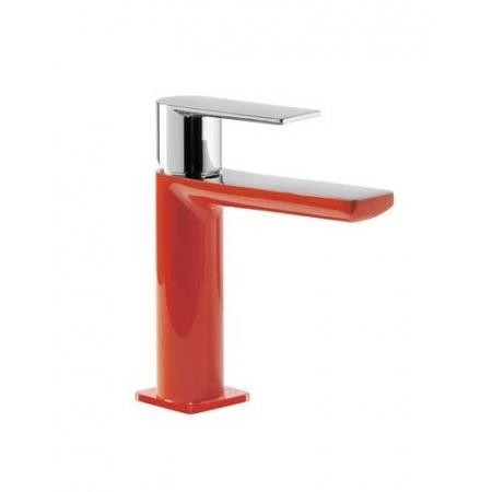 Tres Loft-Colors Jednouchwytowa bateria umywalkowa stojąca z dźwignią, czerwona 200.103.01.RO.D