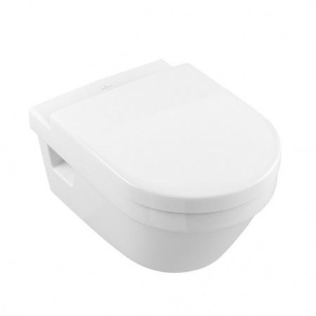 Villeroy & Boch Architectura Combi-Pack Zestaw Toaleta WC podwieszana z deską sedesową wolnoopadającą, biała 5684H101
