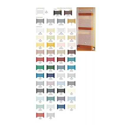 Zeta BAGNOLUS Grzejnik łazienkowy 1145x600, dolne zasilanie, rozstaw 570, kolory metalizados - SB1145x600M