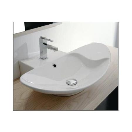 Scarabeo Zefiro Umywalka wisząca lub nablatowa 68x50x18 cm, biała 8201