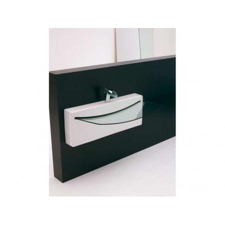 Art Ceram Crystal Wall Element szklany do umywalki biały 990 / WLA002