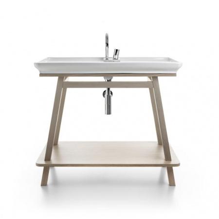 Art Ceram Mobili Furniture Trapezio Szafka pod umywalkę 97x53 cm stojąca, dębowa bielona ACM012