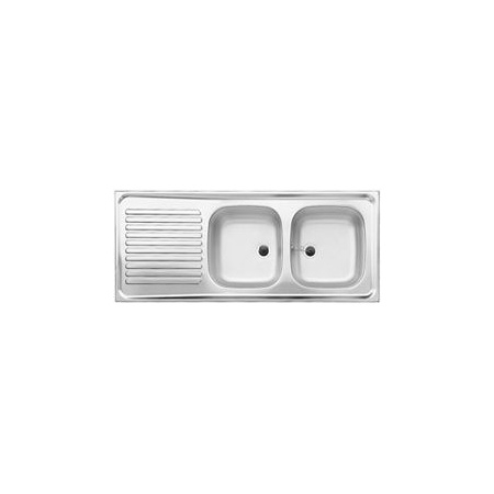 Blanco R-ZS 12 x 5 - 2 Zlewozmywak stalowy dwukomorowy 120x50 cm bez korka automatycznego stalowy mat 510504