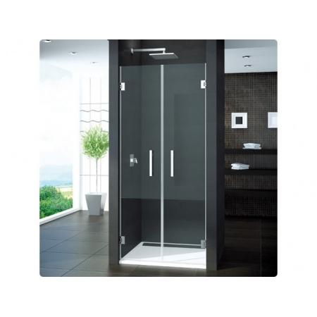 Ronal Pur Drzwi prysznicowe dwuczęściowe, wahadłowe - na wymiar Chrom Szkło Durlux 200 (PUR2TSM11022)