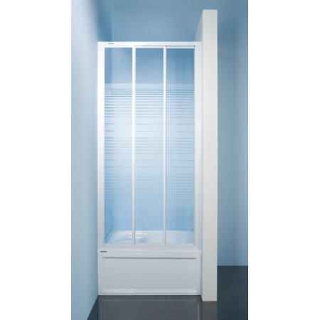Sanplast Classic DTr-c Drzwi prysznicowe - 100/185  biały Sitodruk W4 600-013-1711-10-410