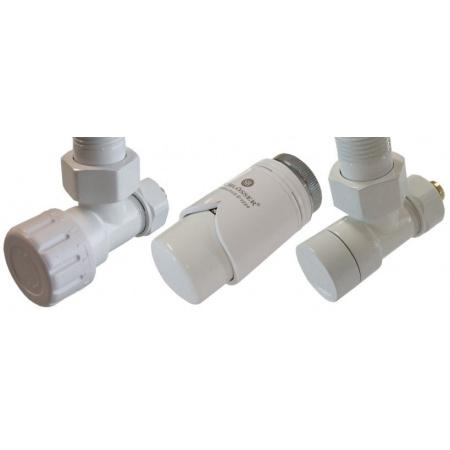 Schlosser zestaw zaworów termostatycznych biały wersja kątowa biały (604200011)
