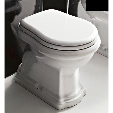 Kerasan Retro Miska WC stojąca odpływ poziomy 70,5x38,5 cm, czarna 1011CZB