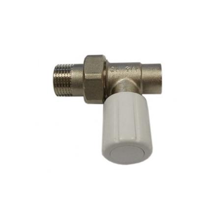 Schlosser DN15 zawór grzejnikowy z pokrętłem 1/2x15mm prosty do wlutowania 6014 00024
