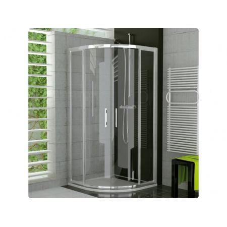 Ronal Sanswiss Top-Line Kabina półokrągła z drzwiami otwieranymi 80x190 cm, profile srebrny mat szkło przezroczyste TER550800107