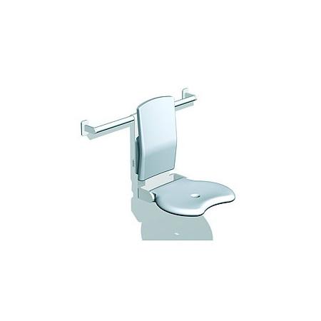 Koło siedzisko prysznicowe LEHNEN EVOLUTION uchylne z oparciem (L32010001)