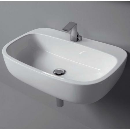 Flaminia Mono Umywalka ścienna 74x48x18,5cm, biała MN74L