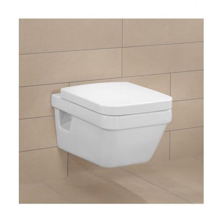 Villeroy & Boch Architectura Combi-Pack Zestaw Miska WC Ceramicplus z deską wolnoopadającą, biała 5685H1R1
