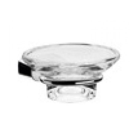 EMCO logo2 Mydelniczka szklana z uchwytem 10,6x14,2x4,8 cm, chrom 303000100