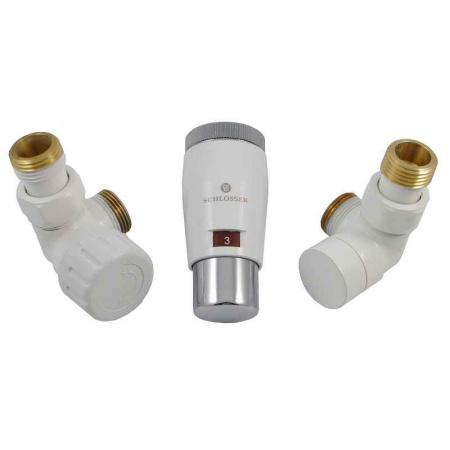 Schlosser Elegant Mini zestaw termostatyczny 1/2 x M22x1,5, osiowy, biały-chrom 6034 00046
