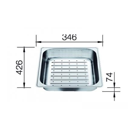 Blanco odsączarka stalowa do PLENTA (219770)