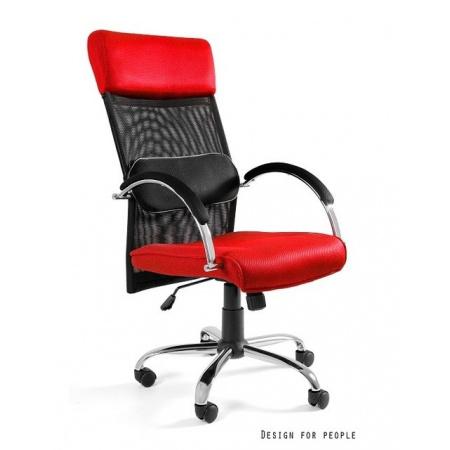 Unique Overcross Fotel biurowy, czerwony W-62-2